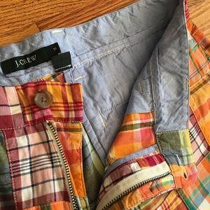 J. Crew Shorts - J.Crew Patchwork Plaid Shorts 35